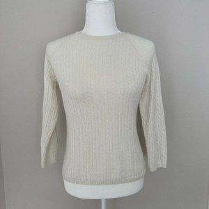 LL Bean Cashmere Blend Cable Knit Sweater